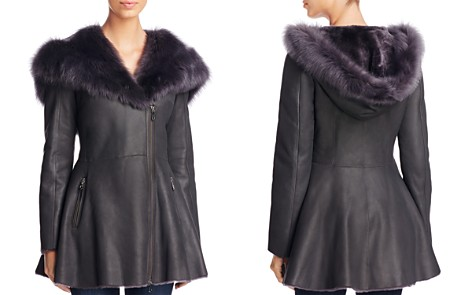 Maximilian Furs Lamb Shearling Asymmetric Front Jacket - Bloomingdale's_2