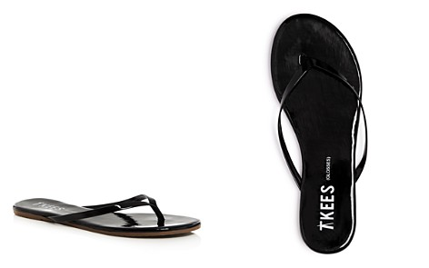 TKEES Women's Glosses Patent Leather Flip-Flops - Bloomingdale's_2