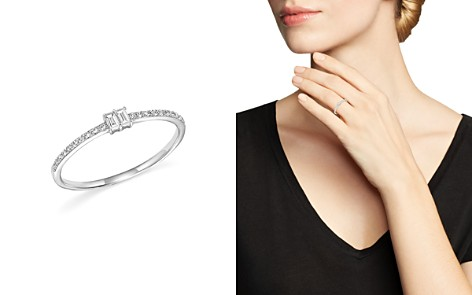 KC Designs Diamond Round and Baguette Band in 14K White Gold, .14 ct. t.w. - Bloomingdale's_2