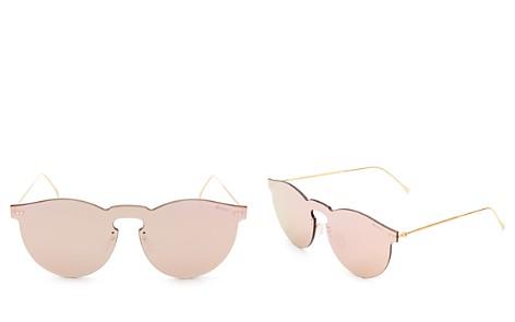 Illesteva Leonard Mask Mirrored Sunglasses, 55mm - Bloomingdale's_2
