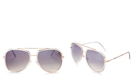 Quay Needing Fame Aviator Sunglasses, 60mm - Bloomingdale's_2