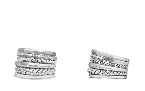 David Yurman Stax Wide Ring with Diamonds - Bloomingdale's_2