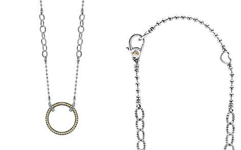"""LAGOS 18K Gold and Sterling Silver Enso Pendant Necklace, 16"""" - Bloomingdale's_2"""