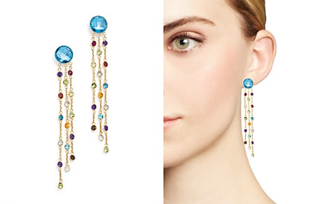 Blue Topaz and Multi Gemstone Drop Earrings in 14K Yellow Gold - 100% Exclusive - Bloomingdale's_2