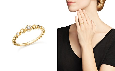 Diamond Beaded Band in 14K Yellow Gold, .10 ct. t.w. - 100% Exclusive - Bloomingdale's_2
