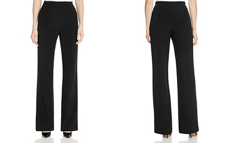 Lafayette 148 New York Metropolitan Stretch Silk Straight Pants - Bloomingdale's_2