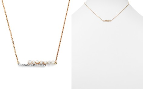 """MATEO 14K Yellow Gold Cultured Freshwater Pearl and Diamond Bypass Bar Necklace, 15"""" - Bloomingdale's_2"""