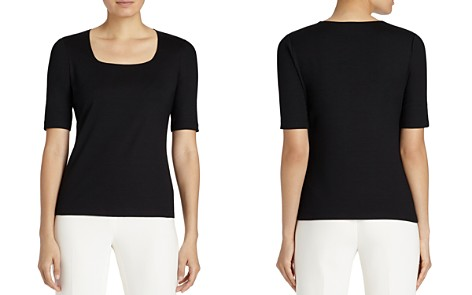 Lafayette 148 New York Square Neck Tee - Bloomingdale's_2