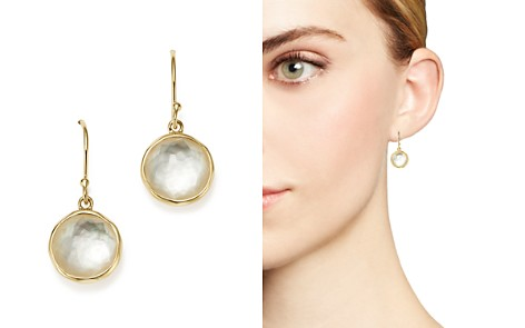 IPPOLITA 18K Yellow Gold Rock Candy Mini Lollipop Earrings in Mother-of-Pearl Doublet - Bloomingdale's_2