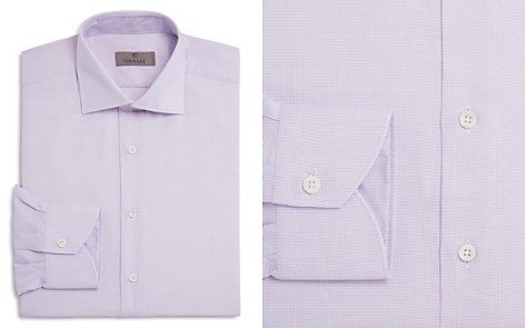 Canali Micro Grid Non Solid Regular Fit Dress Shirt - Bloomingdale's_2