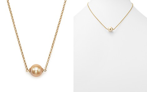 """Cultured South Sea & Natural Color Golden Pearl Pendant Necklace in 14K Yellow Gold, 18"""" - 100% Exclusive - Bloomingdale's_2"""