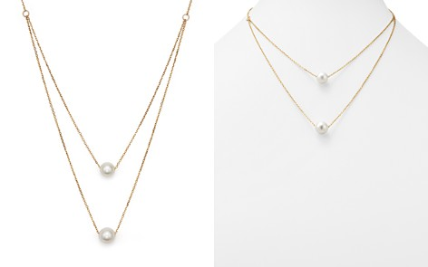 "Cultured South Sea Pearl Two Row Necklace in 14K Yellow Gold, 17"" - 100% Exclusive - Bloomingdale's_2"