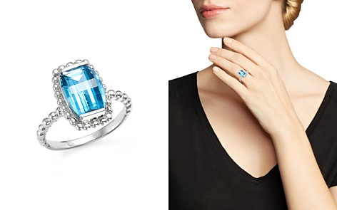 Blue Topaz Beaded Ring in 14K White Gold - 100% Exclusive - Bloomingdale's_2