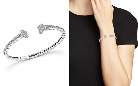 Roberto Coin 18K White Gold Pois Moi Chiodo Diamond Bangle - 100% Exclusive - Bloomingdale's_2