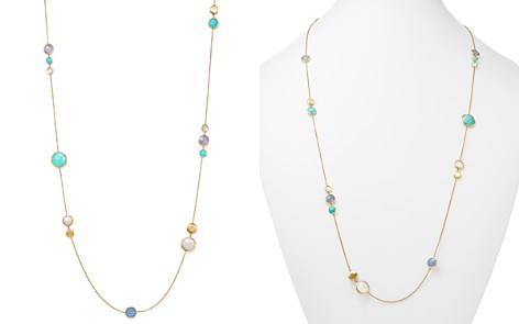 "Marco Bicego 18K Yellow Gold Jaipur Station Necklace with Turquoise, Mother-Of-Pearl and Chalcedony, 26"" - 100% Exclusive - Bloomingdale's_2"
