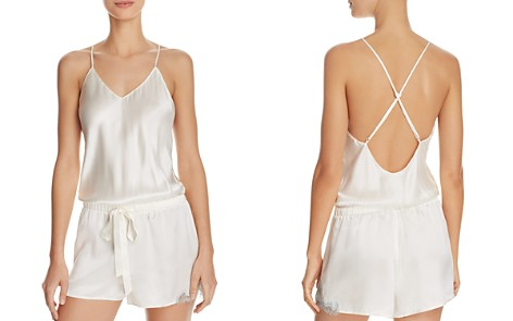 GINIA Chantilly Lace Silk Romper - Bloomingdale's_2