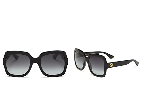 Gucci Oversized Gradient Square Sunglasses, 54mm - Bloomingdale's_2
