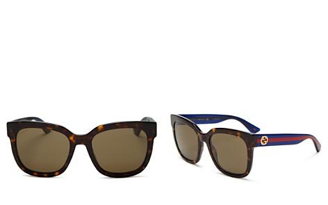 Gucci Logo Square Sunglasses, 54mm - Bloomingdale's_2