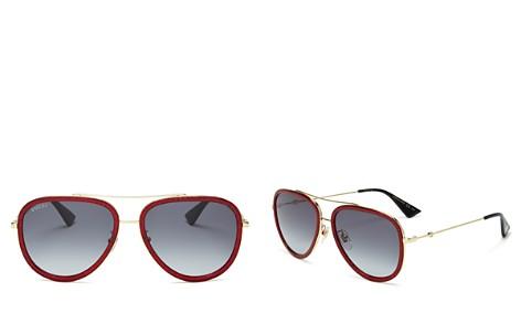Gucci Women's Brow Bar Aviator Sunglasses, 57mm - Bloomingdale's_2
