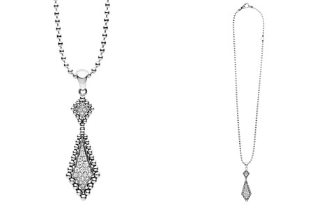 "LAGOS Sterling Silver and Diamond Marquise Pendant Ball Chain Necklace, 16"" - Bloomingdale's_2"