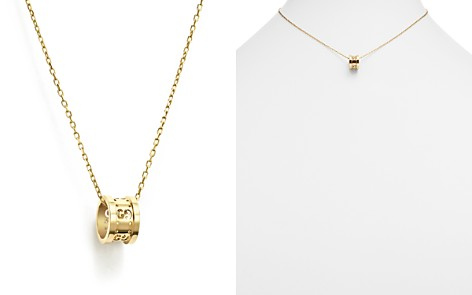 Gucci necklace bloomingdales gucci 18k yellow gold icon twirl pendant necklace 16 bloomingdales2 aloadofball Choice Image