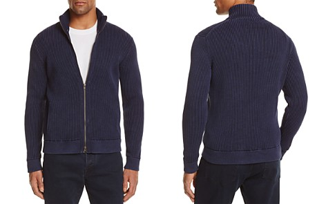 The Men's Store at Bloomingdale's Ribbed Cotton Zip Cardigan Sweater - 100% Exclusive_2