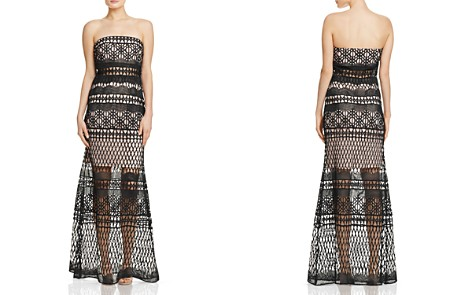 LM Collection Strapless Crochet Lace Gown - Bloomingdale's_2