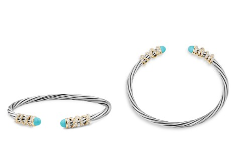 David Yurman Helena End Station Bracelet with Turquoise, Diamonds and 18K Gold - Bloomingdale's_2