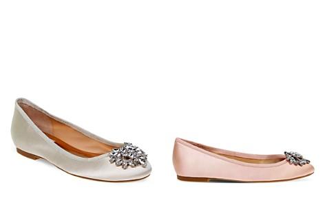 Badgley Mischka Bianca Jeweled Ballet Flats - Bloomingdale's_2