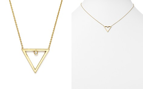 """Zoë Chicco 14K Yellow Gold Diamond Open Triangle Necklace, 16"""" - Bloomingdale's_2"""