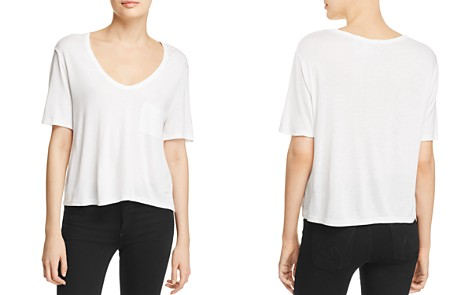 T by Alexander Wang Classic Cropped Tee - Bloomingdale's_2