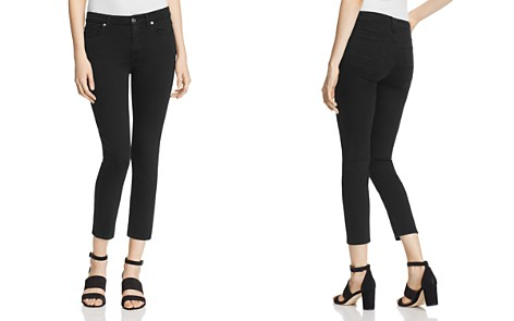 7 For All Mankind b(air) Kimmie Crop Jeans in Black - Bloomingdale's_2