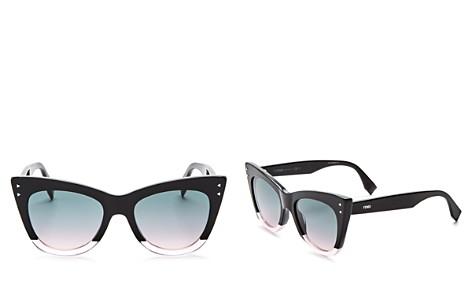 Fendi Women's Two Tone Cat Eye Sunglasses, 50mm - Bloomingdale's_2
