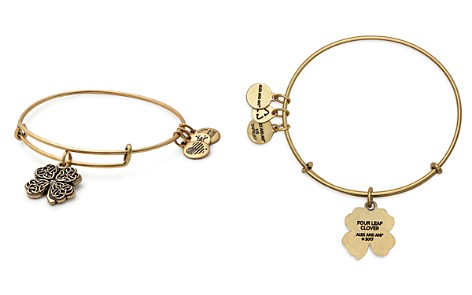 Alex and Ani Four Leaf Clover Expandable Wire Bangle - Bloomingdale's_2
