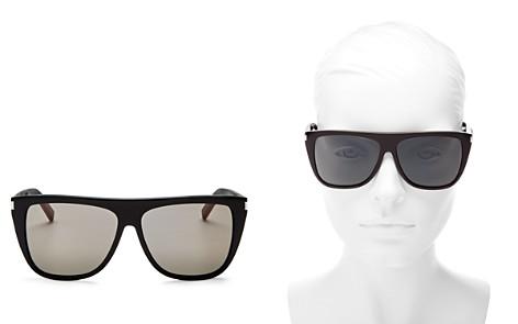 Saint Laurent Women's Flat Top Square Sunglasses, 59mm - Bloomingdale's_2