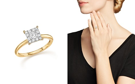 Diamond Cluster Ring in 14K Yellow Gold, .50 ct. t.w. - 100% Exclusive - Bloomingdale's_2