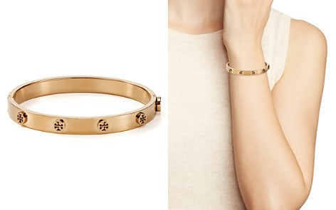 Tory Burch Logo Studded Hinge Bangle - Bloomingdale's_2