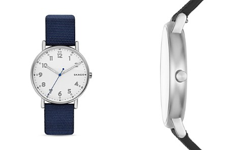 Skagen Signature Leather Strap Watch, 40mm - Bloomingdale's_2