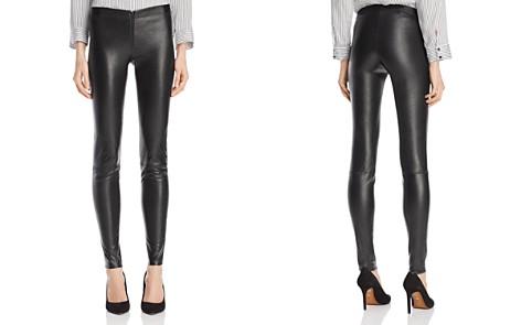 Alice + Olivia Zip Front Leather Leggings - Bloomingdale's_2