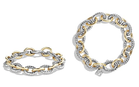 David Yurman Oval Large Link Bracelet with Gold - Bloomingdale's_2