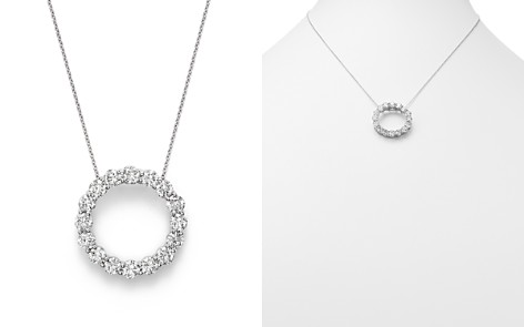 Diamond Open Circle Pendant Necklace in 14K White Gold, 4.0 ct. t.w. - 100% Exclusive - Bloomingdale's_2