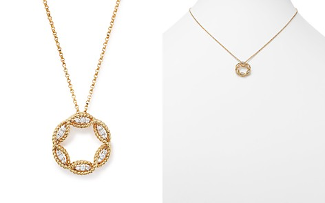 "Roberto Coin 18K White and Yellow Gold New Barocco Diamond Pendant Necklace, 18"" - Bloomingdale's_2"