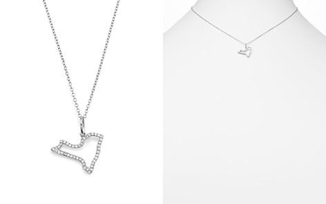 "KC Designs 14K White Gold Diamond Mini New York State Necklace, 16"" - Bloomingdale's_2"
