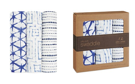 Aden and Anais Indigo Shibori Silky Soft Swaddles, 3 Pack - Bloomingdale's_2