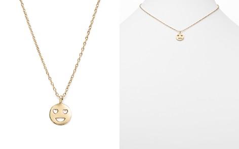 "Bing Bang NYC 14K Yellow Gold Heart Eyes Emoji Necklace, 16"" - Bloomingdale's_2"