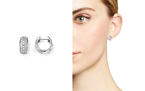 Diamond Huggie Hoop Earrings in 14K White Gold, .45 ct. t.w. - 100% Exclusive - Bloomingdale's_2
