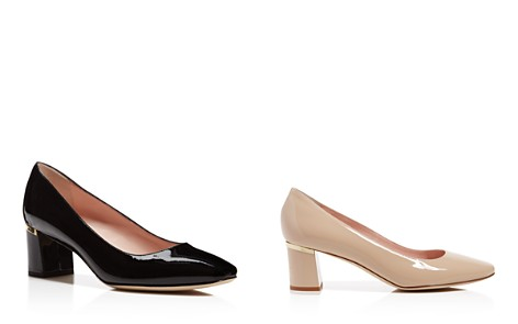 kate spade new york Dolores Too Patent Leather Mid Heel Pumps - Bloomingdale's_2