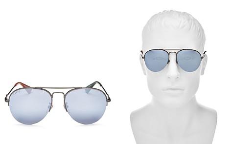 Gucci Men's Mirrored Brow Bar Aviator Sunglasses, 56mm - Bloomingdale's_2