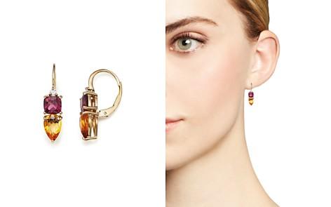Citrine, Rhodolite Garnet and Diamond Earrings in 14K Yellow Gold - 100% Exclusive - Bloomingdale's_2