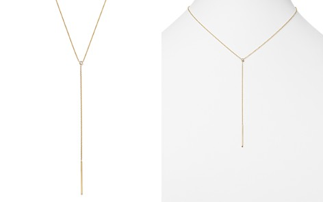 "Zoë Chicco 14K Yellow Gold Two Bar Diamond Lariat Necklace, 16"" - Bloomingdale's_2"
